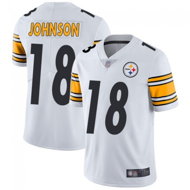 Nike Steelers #18 Diontae Johnson White Men's Stitched NFL Vapor Untouchable Limited Jersey