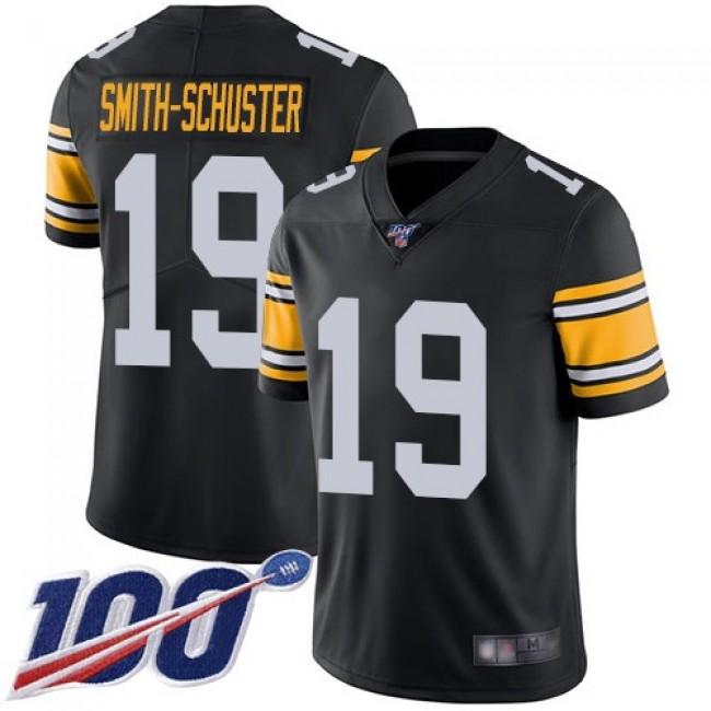 Nike Steelers #19 JuJu Smith-Schuster Black Alternate Men's Stitched NFL 100th Season Vapor Limited Jersey