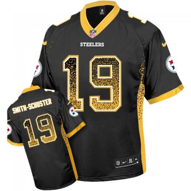 Nike Steelers #19 JuJu Smith-Schuster Black Team Color Men's Stitched NFL Elite Drift Fashion Jersey