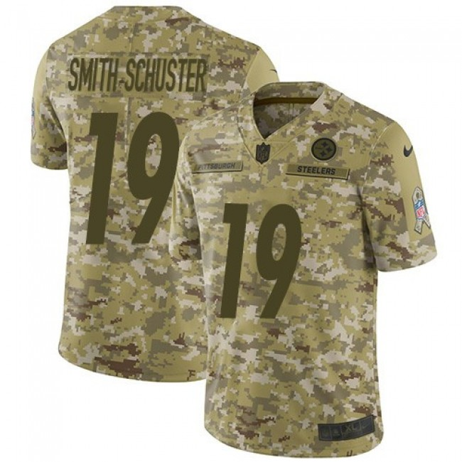 Nike Steelers #19 JuJu Smith-Schuster Camo Men's Stitched NFL Limited 2018 Salute To Service Jersey