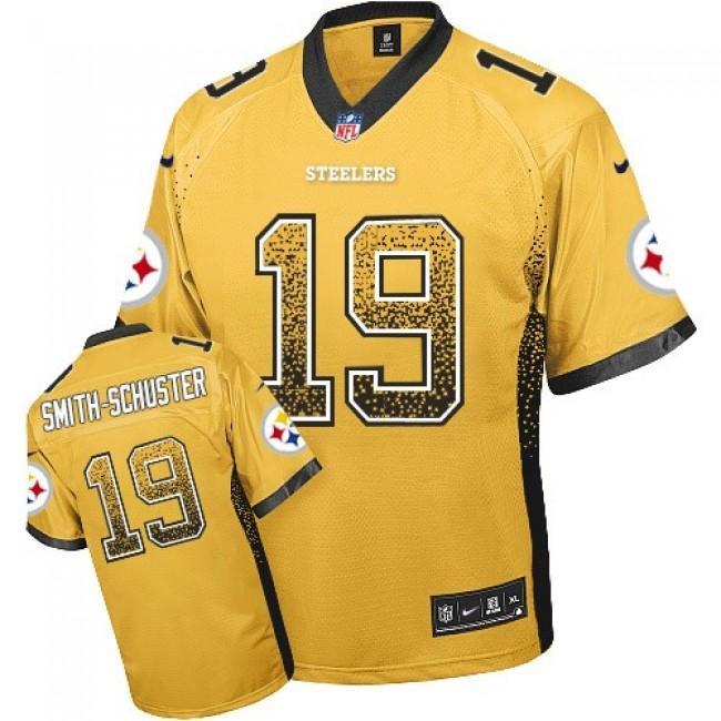Nike Steelers #19 JuJu Smith-Schuster Gold Men's Stitched NFL Elite Drift Fashion Jersey