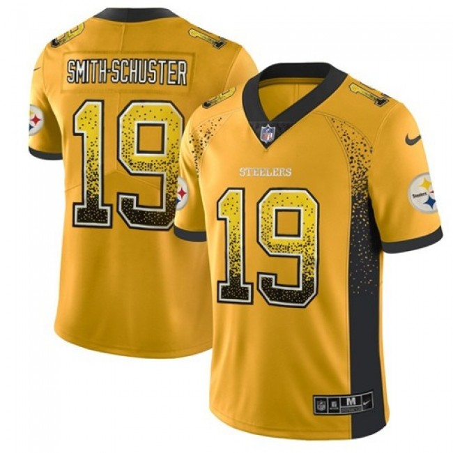 Nike Steelers #19 JuJu Smith-Schuster Gold Men's Stitched NFL Limited Rush Drift Fashion Jersey
