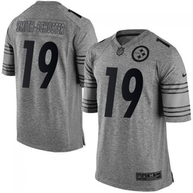 Nike Steelers #19 JuJu Smith-Schuster Gray Men's Stitched NFL Limited Gridiron Gray Jersey