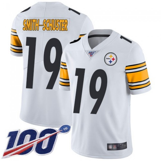 Nike Steelers #19 JuJu Smith-Schuster White Men's Stitched NFL 100th Season Vapor Limited Jersey