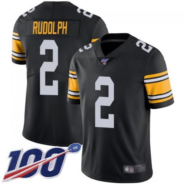 Nike Steelers #2 Mason Rudolph Black Alternate Men's Stitched NFL 100th Season Vapor Limited Jersey