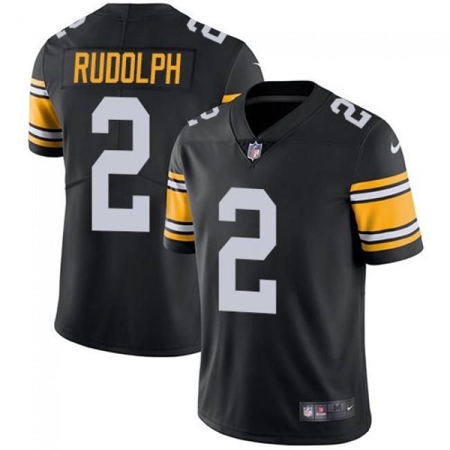 Nike Steelers #2 Mason Rudolph Black Alternate Men's Stitched NFL Vapor Untouchable Limited Jersey