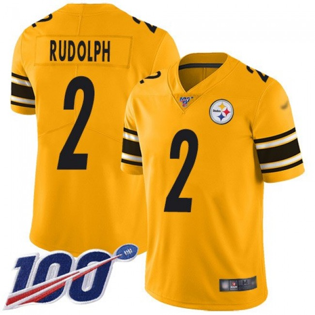 Nike Steelers #2 Mason Rudolph Gold Men's Stitched NFL Limited Inverted Legend 100th Season Jersey