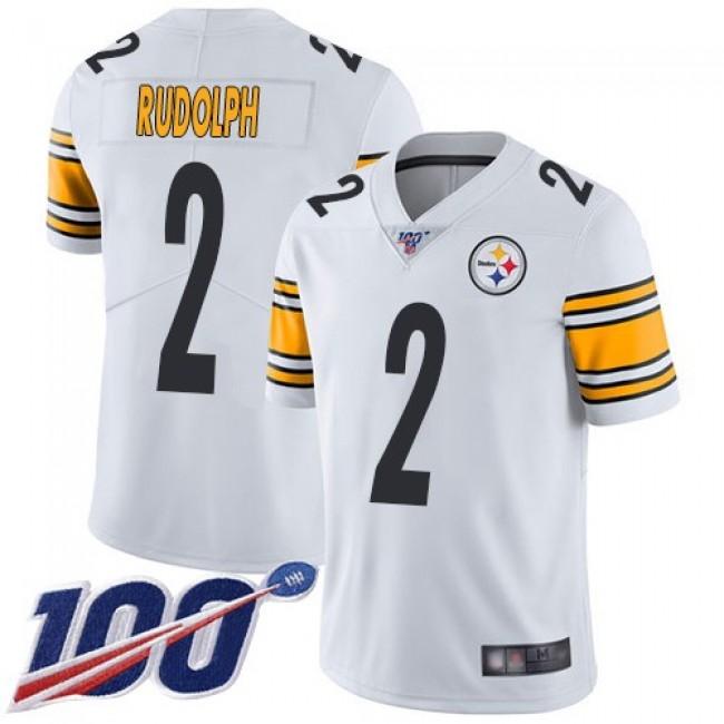 Nike Steelers #2 Mason Rudolph White Men's Stitched NFL 100th Season Vapor Limited Jersey