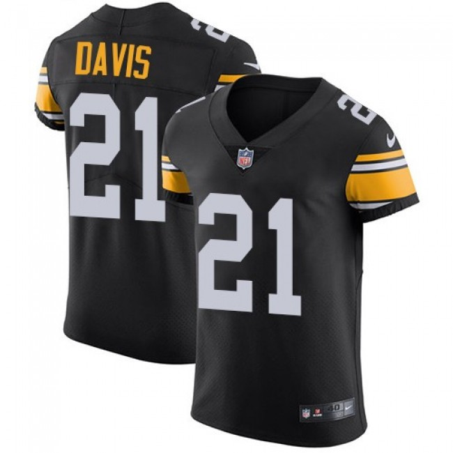 Nike Steelers #21 Sean Davis Black Alternate Men's Stitched NFL Vapor Untouchable Elite Jersey