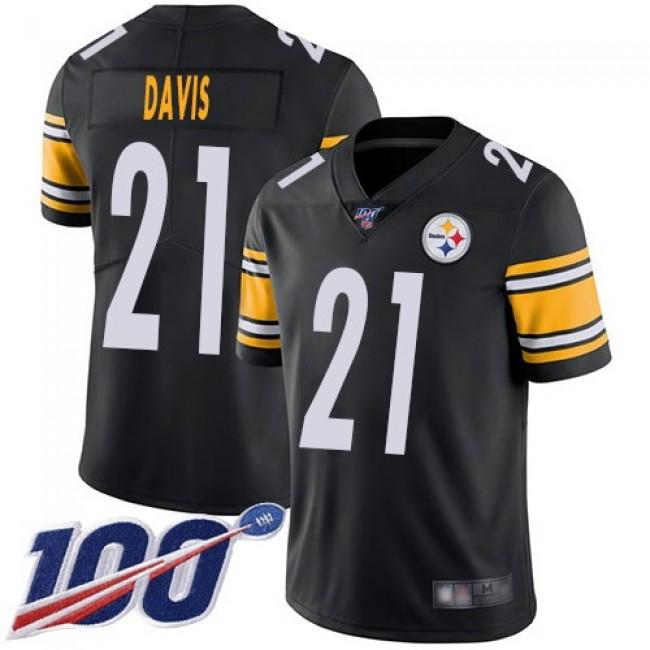 Nike Steelers #21 Sean Davis Black Team Color Men's Stitched NFL 100th Season Vapor Limited Jersey