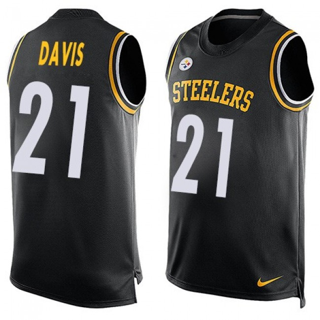Nike Steelers #21 Sean Davis Black Team Color Men's Stitched NFL Limited Tank Top Jersey