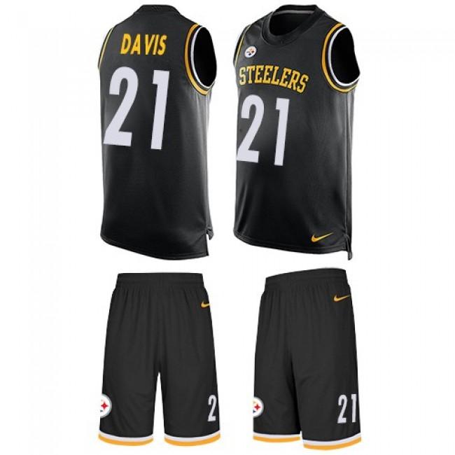 Nike Steelers #21 Sean Davis Black Team Color Men's Stitched NFL Limited Tank Top Suit Jersey