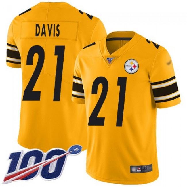 Nike Steelers #21 Sean Davis Gold Men's Stitched NFL Limited Inverted Legend 100th Season Jersey