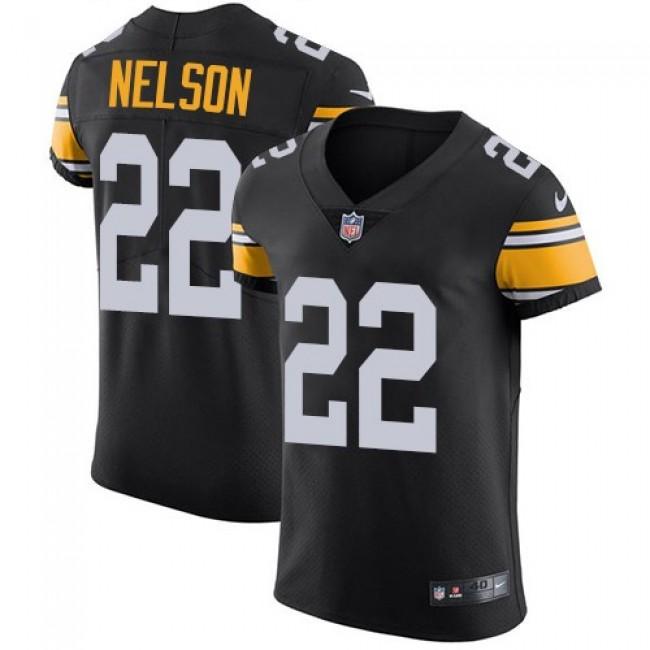 Nike Steelers #22 Steven Nelson Black Alternate Men's Stitched NFL Vapor Untouchable Elite Jersey