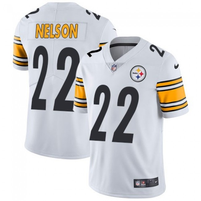 Nike Steelers #22 Steven Nelson White Men's Stitched NFL Vapor Untouchable Limited Jersey