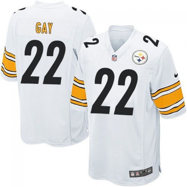 Pittsburgh Steelers #22 William Gay White Youth Stitched NFL Elite Jersey