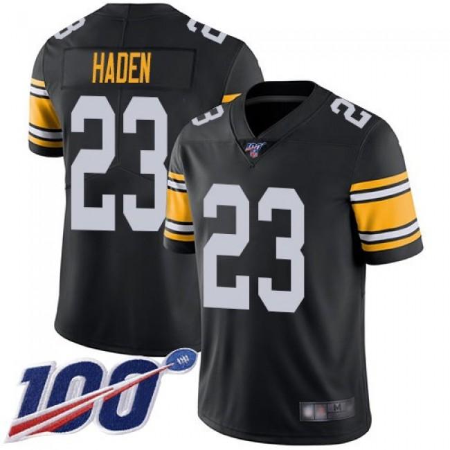 Nike Steelers #23 Joe Haden Black Alternate Men's Stitched NFL 100th Season Vapor Limited Jersey