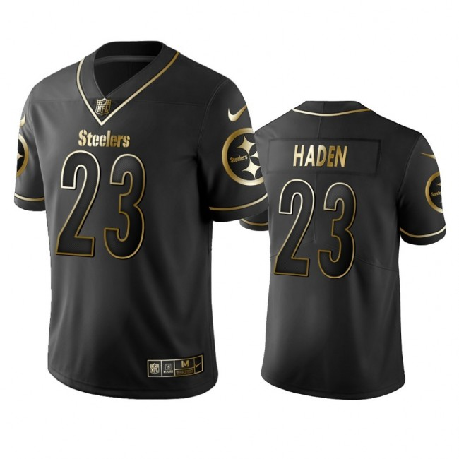 Nike Steelers #23 Joe Haden Black Golden Limited Edition Stitched NFL Jersey