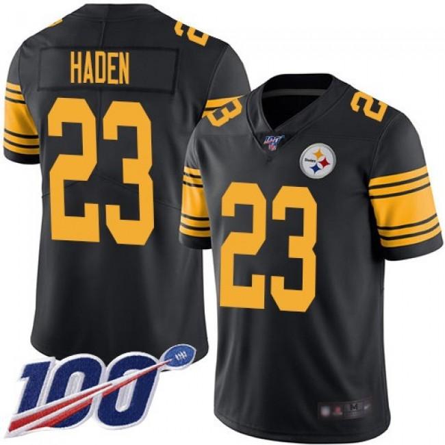 Nike Steelers #23 Joe Haden Black Men's Stitched NFL Limited Rush 100th Season Jersey