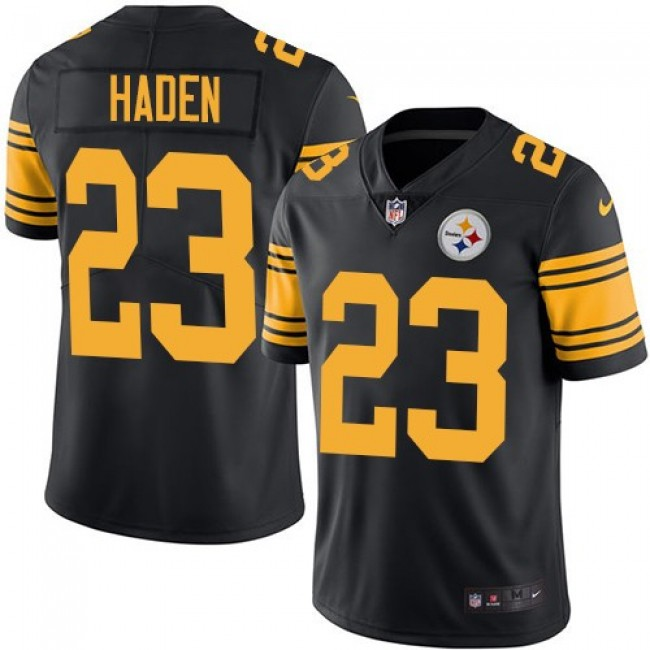 Nike Steelers #23 Joe Haden Black Men's Stitched NFL Limited Rush Jersey
