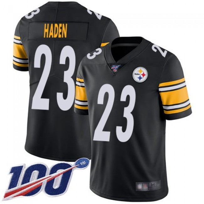 Nike Steelers #23 Joe Haden Black Team Color Men's Stitched NFL 100th Season Vapor Limited Jersey