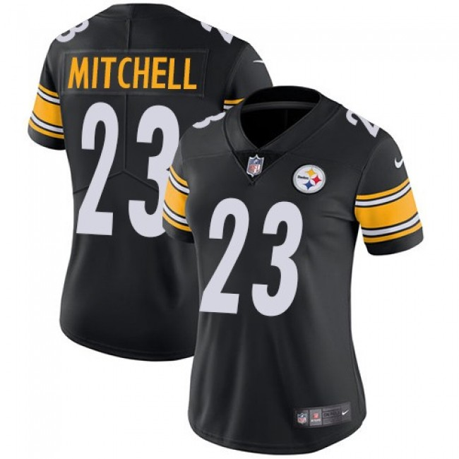 Women's Steelers #23 Mike Mitchell Black Team Color Stitched NFL Vapor Untouchable Limited Jersey