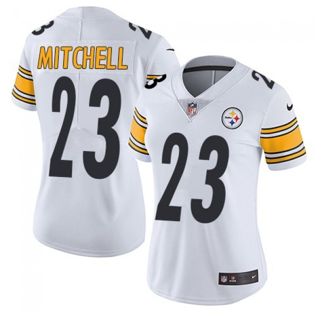 Women's Steelers #23 Mike Mitchell White Stitched NFL Vapor Untouchable Limited Jersey