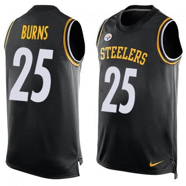 Nike Steelers #25 Artie Burns Black Team Color Men's Stitched NFL Limited Tank Top Jersey