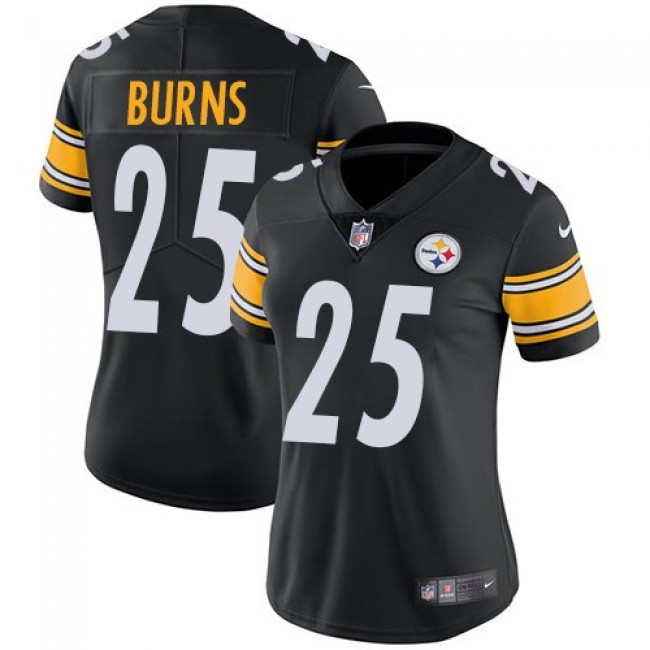 Women's Steelers #25 Artie Burns Black Team Color Stitched NFL Vapor Untouchable Limited Jersey