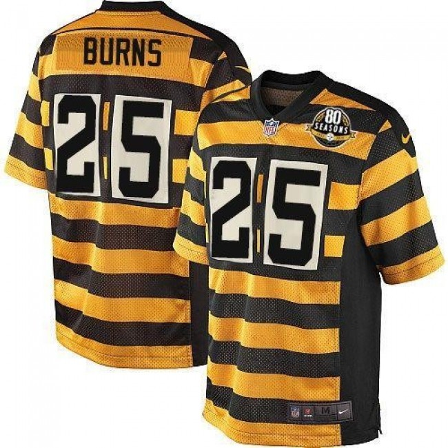 Pittsburgh Steelers #25 Artie Burns Black-Yellow Alternate Youth Stitched NFL Elite Jersey