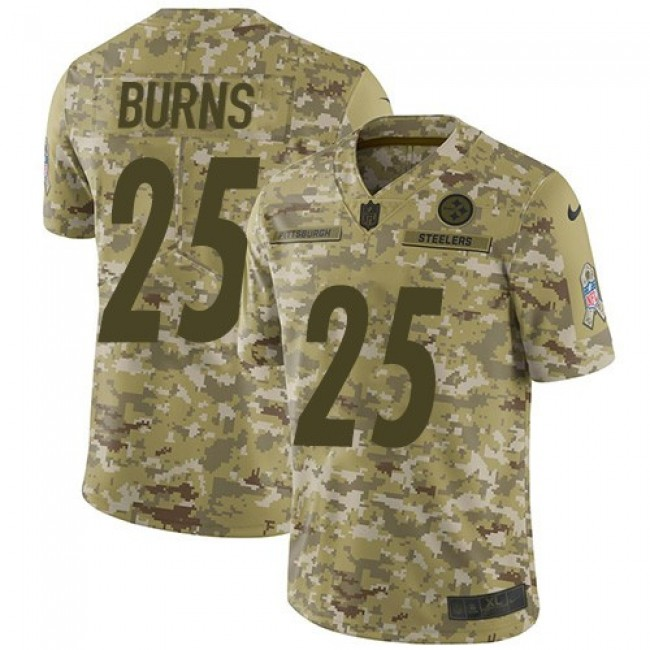 Nike Steelers #25 Artie Burns Camo Men's Stitched NFL Limited 2018 Salute To Service Jersey