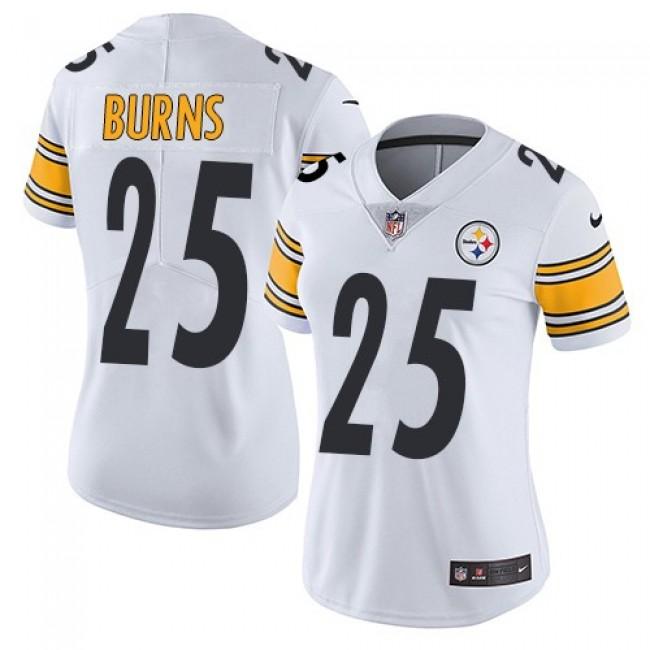 Women's Steelers #25 Artie Burns White Stitched NFL Vapor Untouchable Limited Jersey