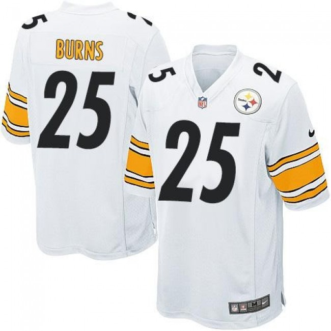 Pittsburgh Steelers #25 Artie Burns White Youth Stitched NFL Elite Jersey