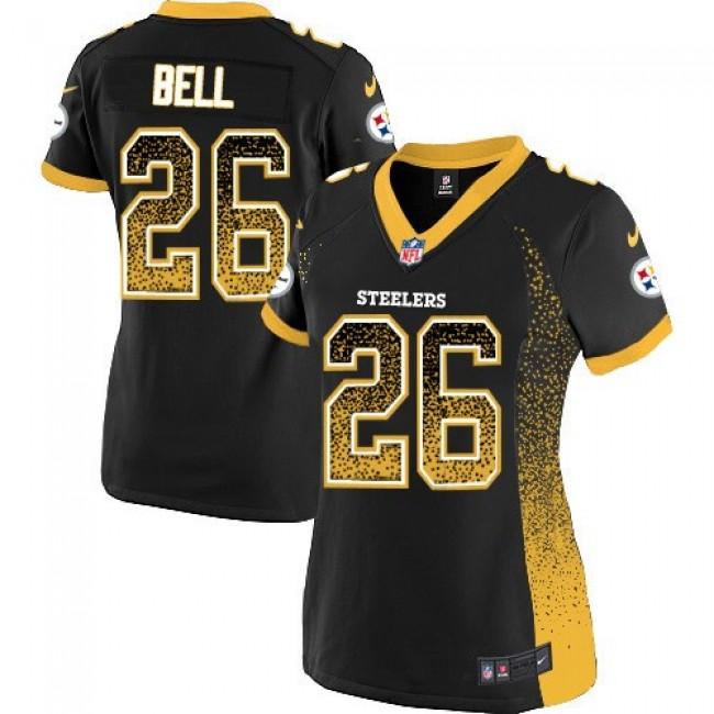 Women's Steelers #26 Le'Veon Bell Black Team Color Stitched NFL Elite Drift Jersey