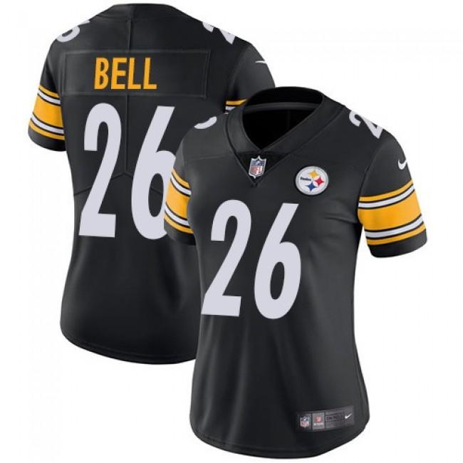 Women's Steelers #26 Le'Veon Bell Black Team Color Stitched NFL Vapor Untouchable Limited Jersey