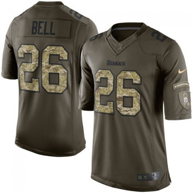 Pittsburgh Steelers #26 Le Veon Bell Green Youth Stitched NFL Limited 2015 Salute to Service Jersey