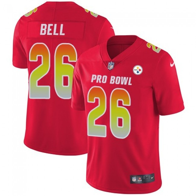 Women's Steelers #26 Le'Veon Bell Red Stitched NFL Limited AFC 2018 Pro Bowl Jersey
