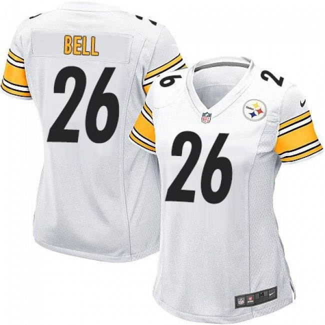 Women's Steelers #26 Le'Veon Bell White Stitched NFL Elite Jersey