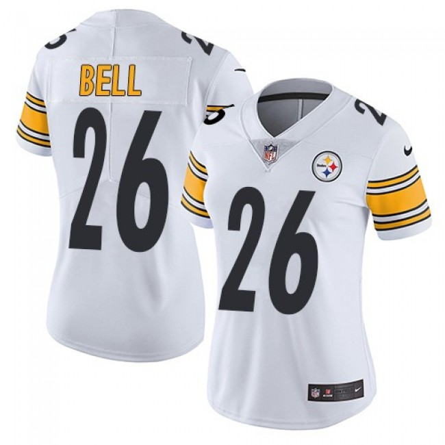 Women's Steelers #26 Le'Veon Bell White Stitched NFL Vapor Untouchable Limited Jersey