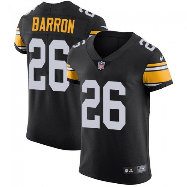 Nike Steelers #26 Mark Barron Black Alternate Men's Stitched NFL Vapor Untouchable Elite Jersey