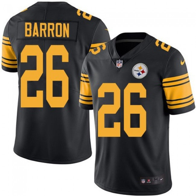 Nike Steelers #26 Mark Barron Black Men's Stitched NFL Limited Rush Jersey