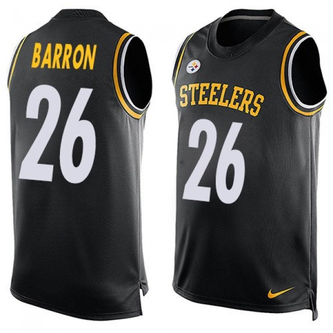 Nike Steelers #26 Mark Barron Black Team Color Men's Stitched NFL Limited Tank Top Jersey