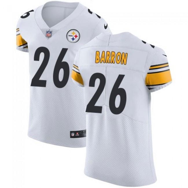 Nike Steelers #26 Mark Barron White Men's Stitched NFL Vapor Untouchable Elite Jersey