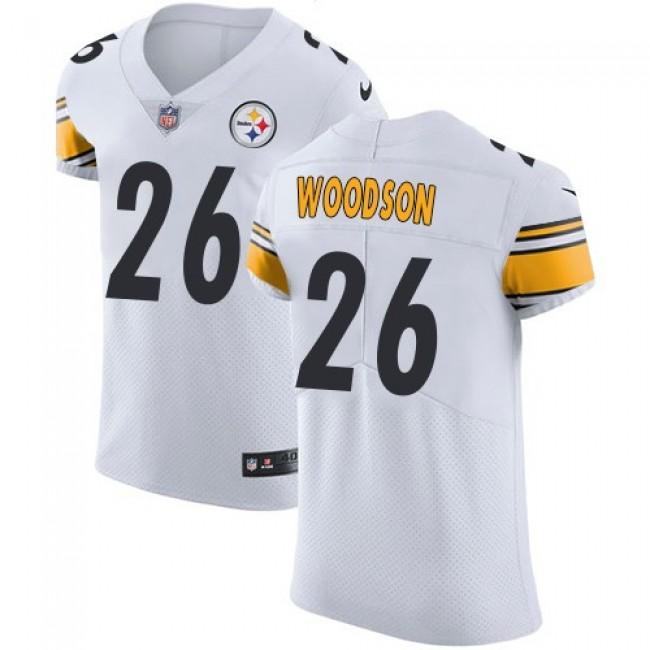 Nike Steelers #26 Rod Woodson White Men's Stitched NFL Vapor Untouchable Elite Jersey