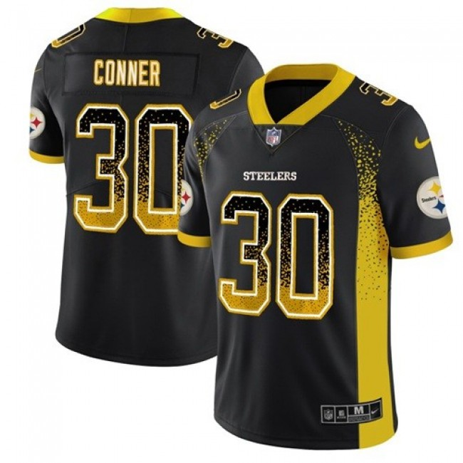 Nike Steelers #30 James Conner Black Team Color Men's Stitched NFL Limited Rush Drift Fashion Jersey