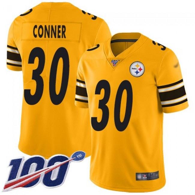 Nike Steelers #30 James Conner Gold Men's Stitched NFL Limited Inverted Legend 100th Season Jersey