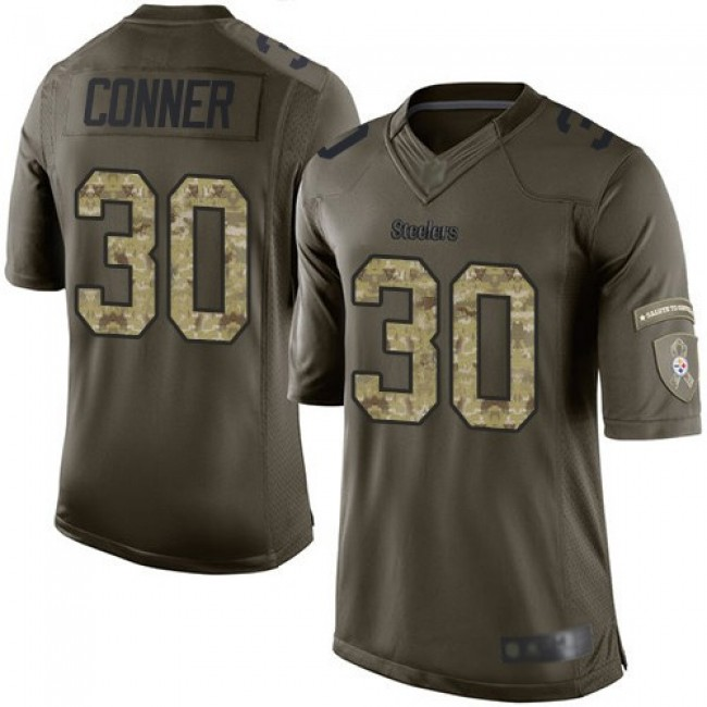 Nike Steelers #30 James Conner Green Men's Stitched NFL Limited 2015 Salute to Service Jersey
