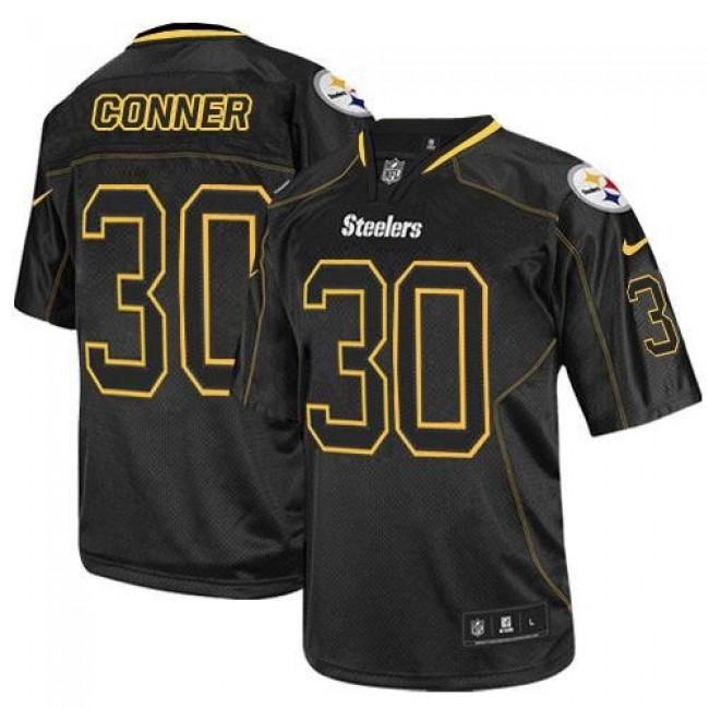 Nike Steelers #30 James Conner Lights Out Black Men's Stitched NFL Elite Jersey
