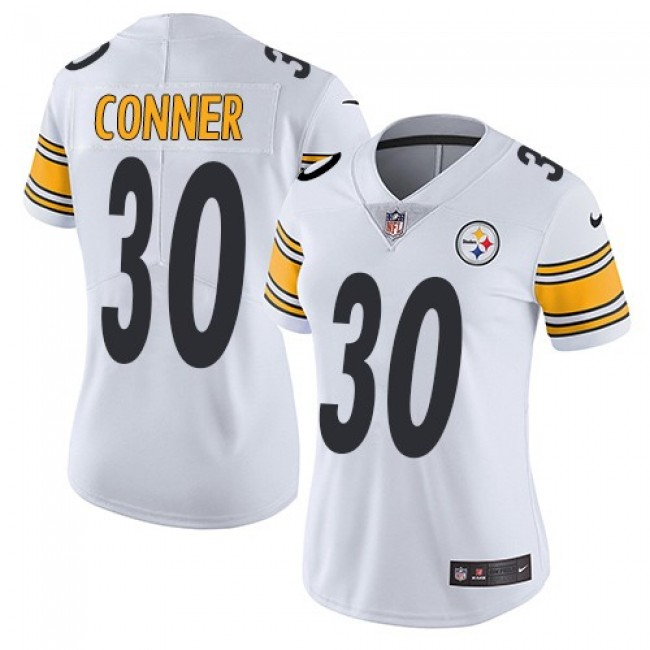 Women's Steelers #30 James Conner White Stitched NFL Vapor Untouchable Limited Jersey