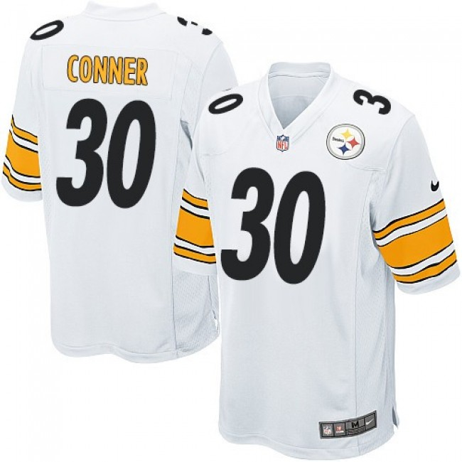 Pittsburgh Steelers #30 James Conner White Youth Stitched NFL Elite Jersey